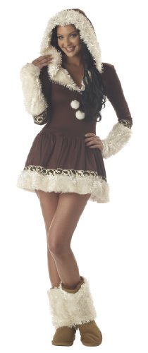 California Costumes Women&#8217;s Eskimo Kisses Costume,Brown/White,Large