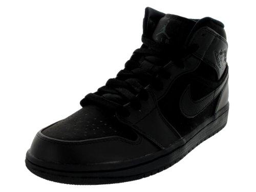 Nike Air Jordan 1 Mid Mens Basketball Shoes 554724-011 Black 8 M US