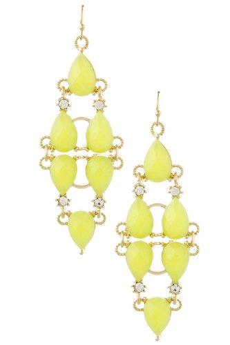Karmas Canvas Jewel Link Drop Earrings (Green) front-1003247
