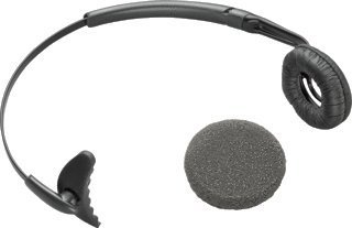 Plantronics 66735-01 Replacement Uniband Headband With Leatherette Ear Cushion For Wireless Headsets Cs50 And Cs55