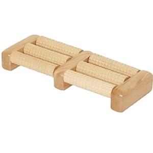 BRUBAKER Fußmassageroller für beide Füße aus Holz mit 6 speziell geformten Rollen