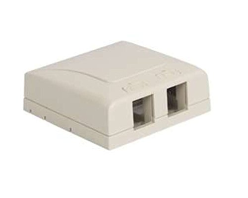 Icc Icc-Ic108Sb2Wh Surface Mount Box Elite 2-Port White
