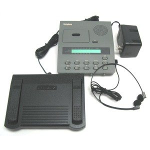 Refurbished Dictaphone Model 3750 Micro Size Cassette Tape Transcriber With New Headset, Foot Pedal & Power Supply