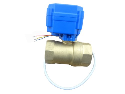 "MISOL 1 unit of motorized ball valve G3/4""(BSP)DN20 (reduce port) / 12VDC / 2 way / electrical valve / ball valve with acuator / CR02/motorizzata G3 valvola a sfera / 4 ""(BSP) DN20 (ridurre porto) / 12VDC / 2 vie / elettrovalvola / valvola a sfera con acuator / CR02"