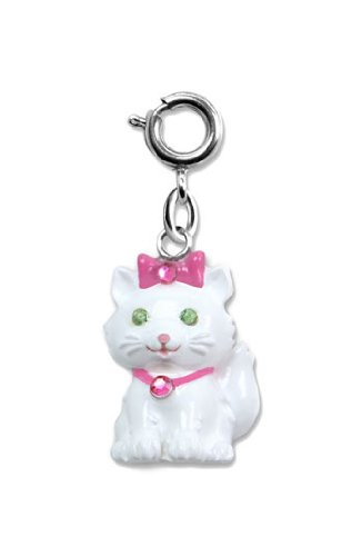 White Kitty Cat Charm For Children's Bracelets by CharmIt! High IntenCity!