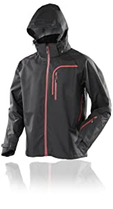 Gelert Men's Ridge Jacket - Black/Dark Red Accent, Small - 48