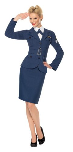Smiffy'S Ww2 Air Force Female Captian, Navy, Medium