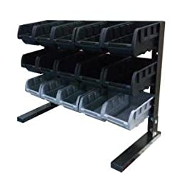 15-Compartments Steel Storage Rack, Black by Zhongshan Geelong Manufacturing Company Ltd.