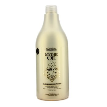L'Oreal Mythic Oil Souffle D'Or Sparkling Conditioner (For All Hair Types) 750Ml/25.4Oz