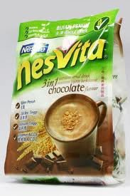 Nesvita Chocolate Mix Fiber Instant Breakfast Drink ,399 G. (28.5g.x14 Sachets /Pack)