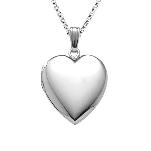 Sterling Silver Polished Heart Locket Pendant