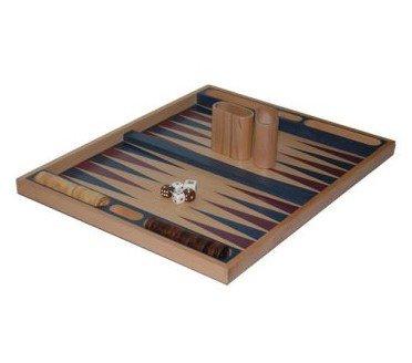 Chh 19 Inch Blue Non-Folding Beech Backgammon Set, 16 - 20 Inches