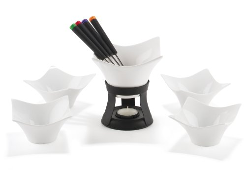 Trudeau Tulip Chocolate Fondue 11 Piece Set