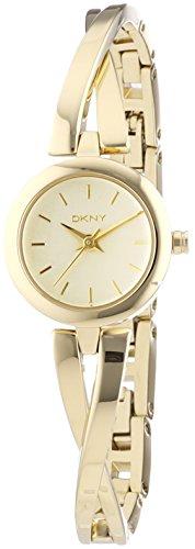 DKNY  NY2170 - Reloj de cuarzo con correa de acero inoxidable para mujer, color dorado