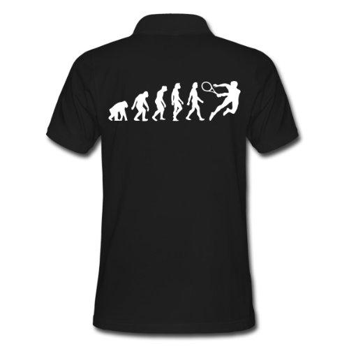 Spreadshirt, Evolution of Tennis (1c), Men's Polo Shirt, black, M