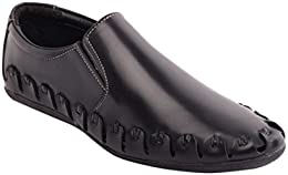 CAPLAND Mens Black Colour Synthetic Leather Formal Loafer B01NBUXWDT