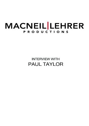 Dance Masters: Paul Taylor (2007 interview)