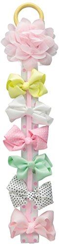 Little Me Baby-Girls Newborn 6 Piece Bow Clippies Pastel, Multi, One Size