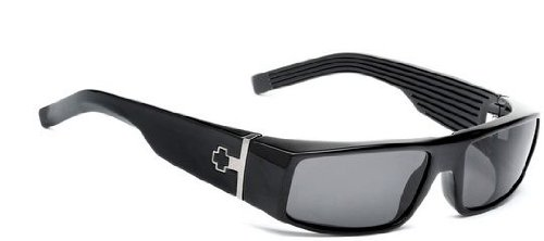 Spy Griffin Sunglasses In Black Gloss - Grey