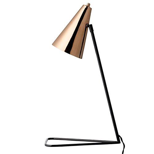 Tischlampe, schwarz/kupfer