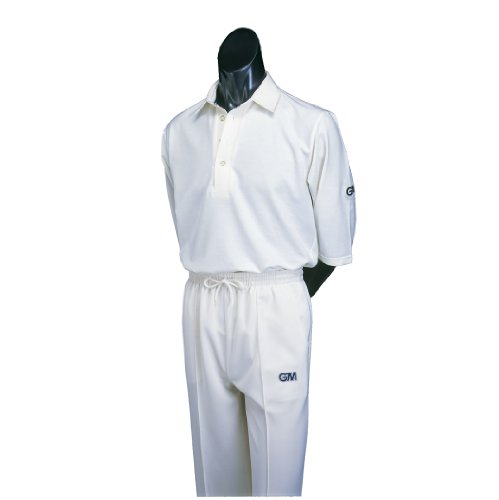 GM Cricket Trousers Light Cream Medium Unfinished Hem