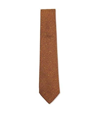 Kiton Men's Dot Tie, Brown/Tan