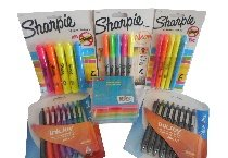 Office Supply~Back To School Essentials 6 PC Bundle:Staples Memo Pad Cube With 500 Assorted Sheets~Sharpie Fine Neon Permanent Markers~Sharpie Tank Style Assorted Highlighters~Sharpie Narrow Chisel Assorted Highlighters~Paper Mate InkJoy 300 RT Retractable Black Ink Pens~Paper Mate InkJoy 300 RT Retractable Assorted Colors Pens~(6 Items Total)