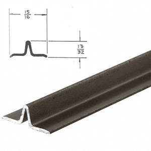 CRL Bronze Series 3606 Lower Track For Sliding Screen Doors 12 Ft Long Sc