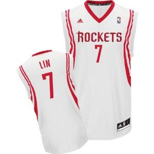 NBA Houston Rockets Jeremy Lin Youth Sizes Home Jersey White #7 by adidas