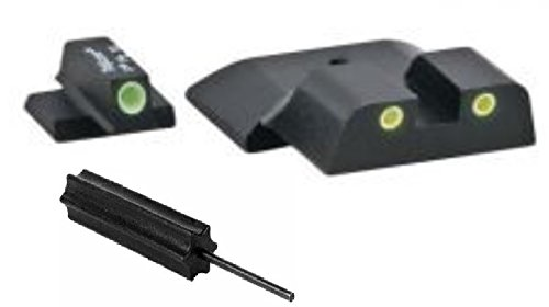 Ameriglo Sw-802 All M&P Models (Except Shield), Classic 3 Dot Night Sight Set Green Front Yellow Rear + Ultimate Arms Gear Pro Disassembly 3/32 Pin Punch Armorers Gunsmith Tool