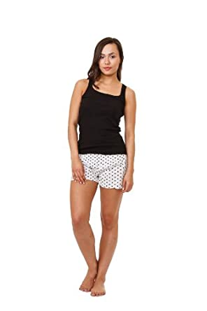 Up2date Fashion Camisole, Knit Tank Top & Cotton Short, Sizes(S,M,L), Style#Cam-03B (M)