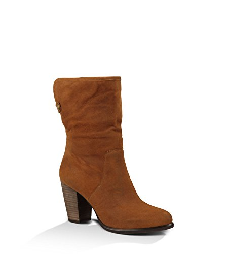 Unique Layna Women39s Heeled Suede Boots Chestnut