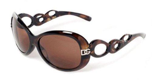 D.G DG ® Eyewear - with FREE Sunglasses Bag - Tortoise with Brown Smoke Mirror Flash Lens Ladies Designer Women's Sunglasses
