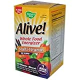 Nature's Way, Alive! Whole Food Energizer Multi-Vitamin, Max Potenzmittel, ohne Zusatz von Eisen, 90 Vcaps