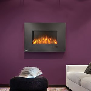 Linear Wall Mounted Electric Fireplace Size: 32