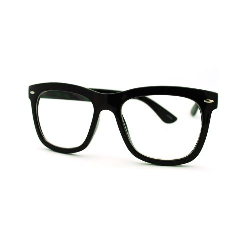 Thick Square Frame Nerdy Glasses