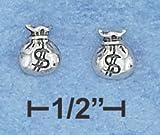 .925 Sterling Silver Money Bags Earrings by SilverChicks