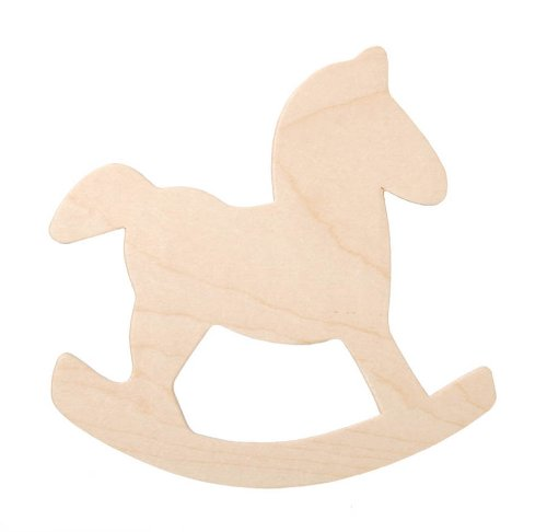 Darice 9133-63 Wood Rocking Horse Cutout, 4-Inch