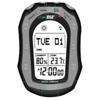 Pyle - Weather Station with Weather Forecast, 58 World Time, Temp, Altimeter, Barometer, Digital Compass (Black Color)