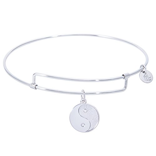 Rembrandt Yin Yang Charm Expandable Wire 'Pure' Bangle