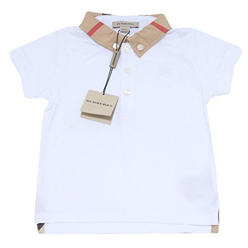 1527M polo bimbo BURBERRY manica corta cotone maglie t-shirts kids [12 MONTHS]