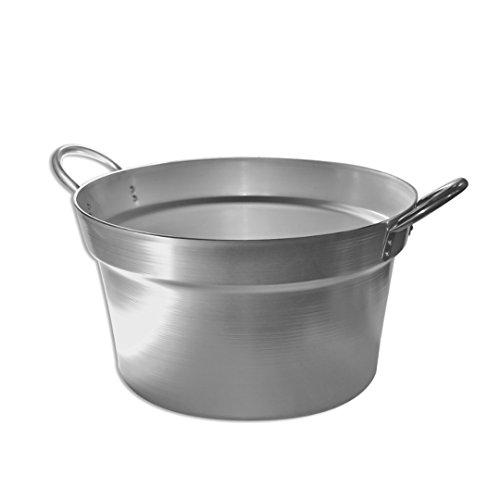 Centrale vapeur professionnelle 28Lt Pentalux en aluminium pour tomates en conserves Hauteur : 28 cm Diamètre : 48 cm