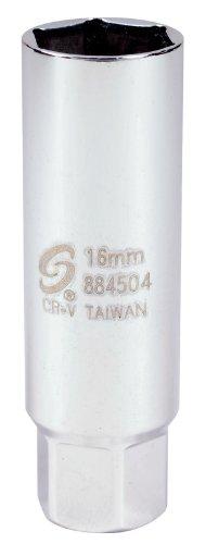 Sunex 884504 3/8-Inch Drive Thin Wall, Metric, Spark Plug Socket, CR-MO (Tamaño: 1-Pack)