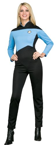 Star Trek Next Generation Blue Jumpsuit Deluxe Halloween Costume - Adult Size Medium