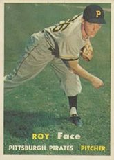 1957 Topps Regular (Baseball) Card# 166 roy face of the Pittsburgh Pirates ExMt... by Topps