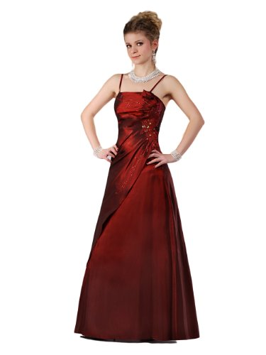 Envie/Paris – 1009 SOPHIA Abendkleid Ballkleid 1-teilig in Weinrot Gr.38-56