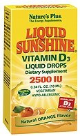 Liquid Sunshine Vitamin D3 Liquid Drops 2500iu 365 servings