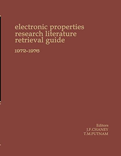 Electronic Properties Research Literature Retrieval Guide 1972-1976 (Chaney Electronics compare prices)