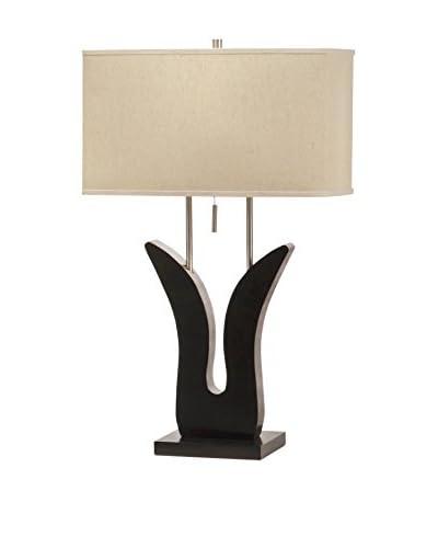 Nova Lighting Bloom Table Lamp, Brown