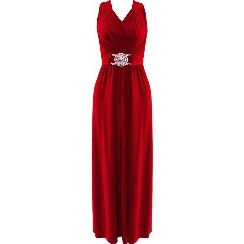 Womens Plus Size Buckle Tie Back Maxi Dress (Sty) ((Us 12/14) (Uk 16/18), Wine)